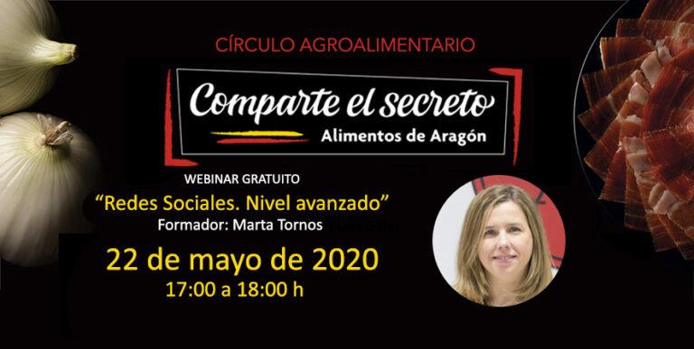 Webinar Redes Sociales nivel avanzado impartido por Marta Tornos