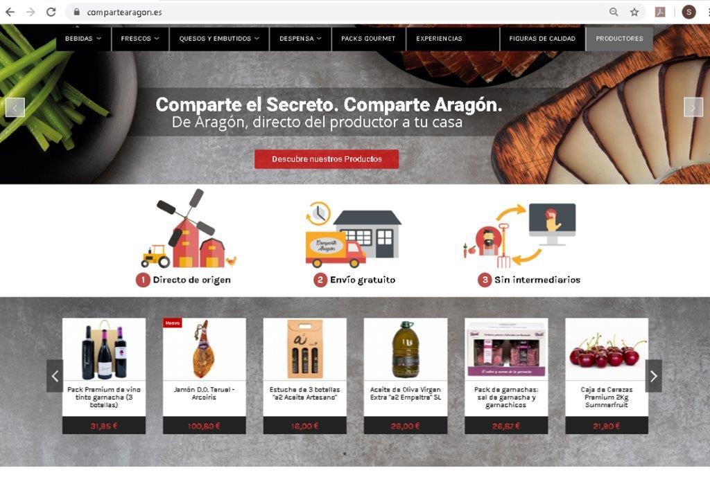 La tienda online www.compartearagon.es supera los 100 productos