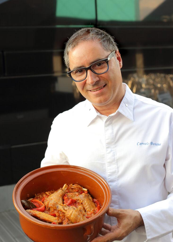 Receta de pollo al chilindrón con Carmelo Bosque