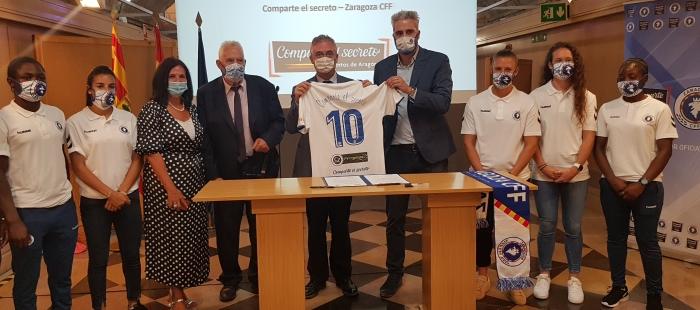 Comparte El Secreto patrocina al Zaragoza Club de Fútbol Femenino