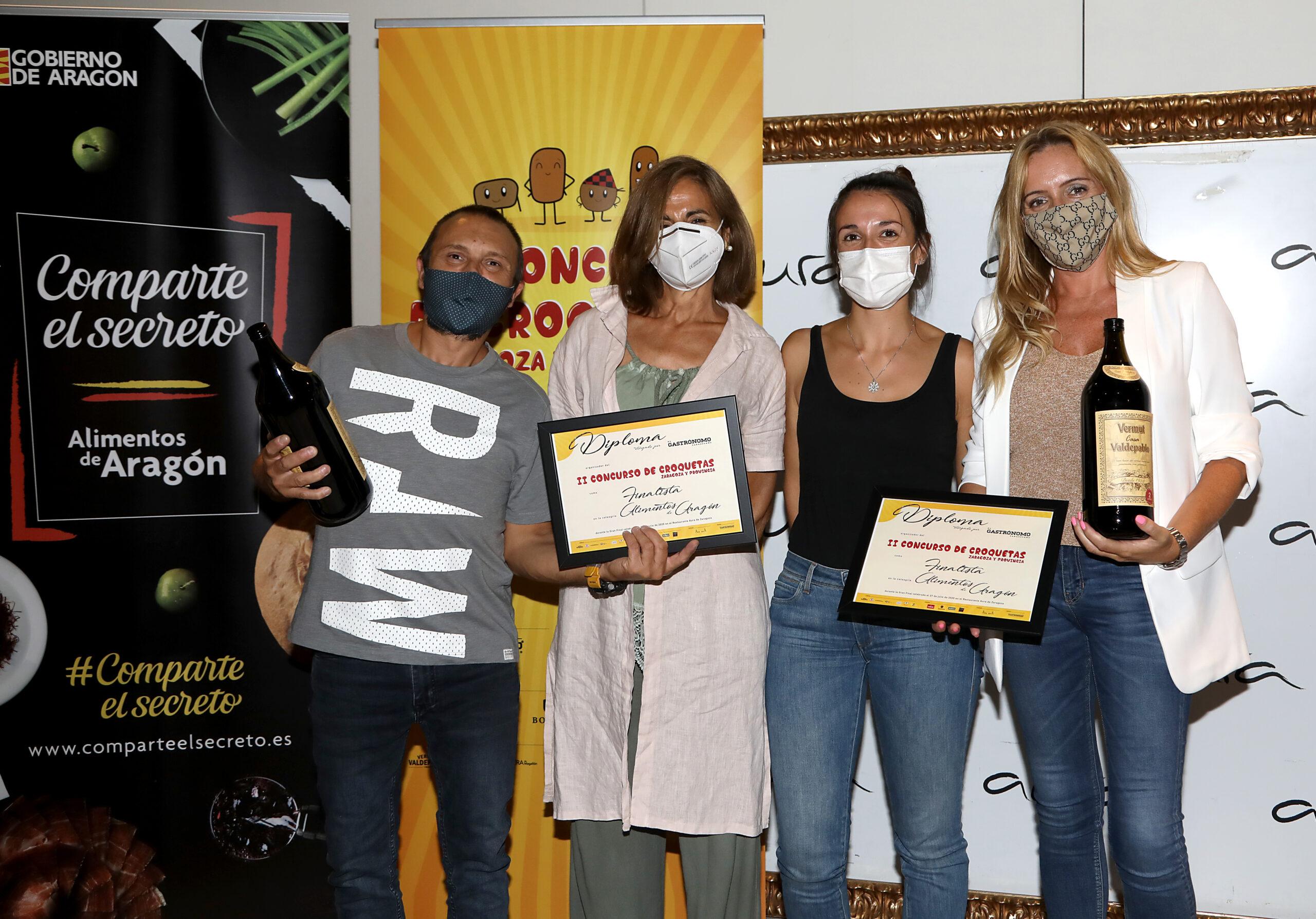Ganador y finalistas de la mejor croqueta elaborada con alimentos de Aragón