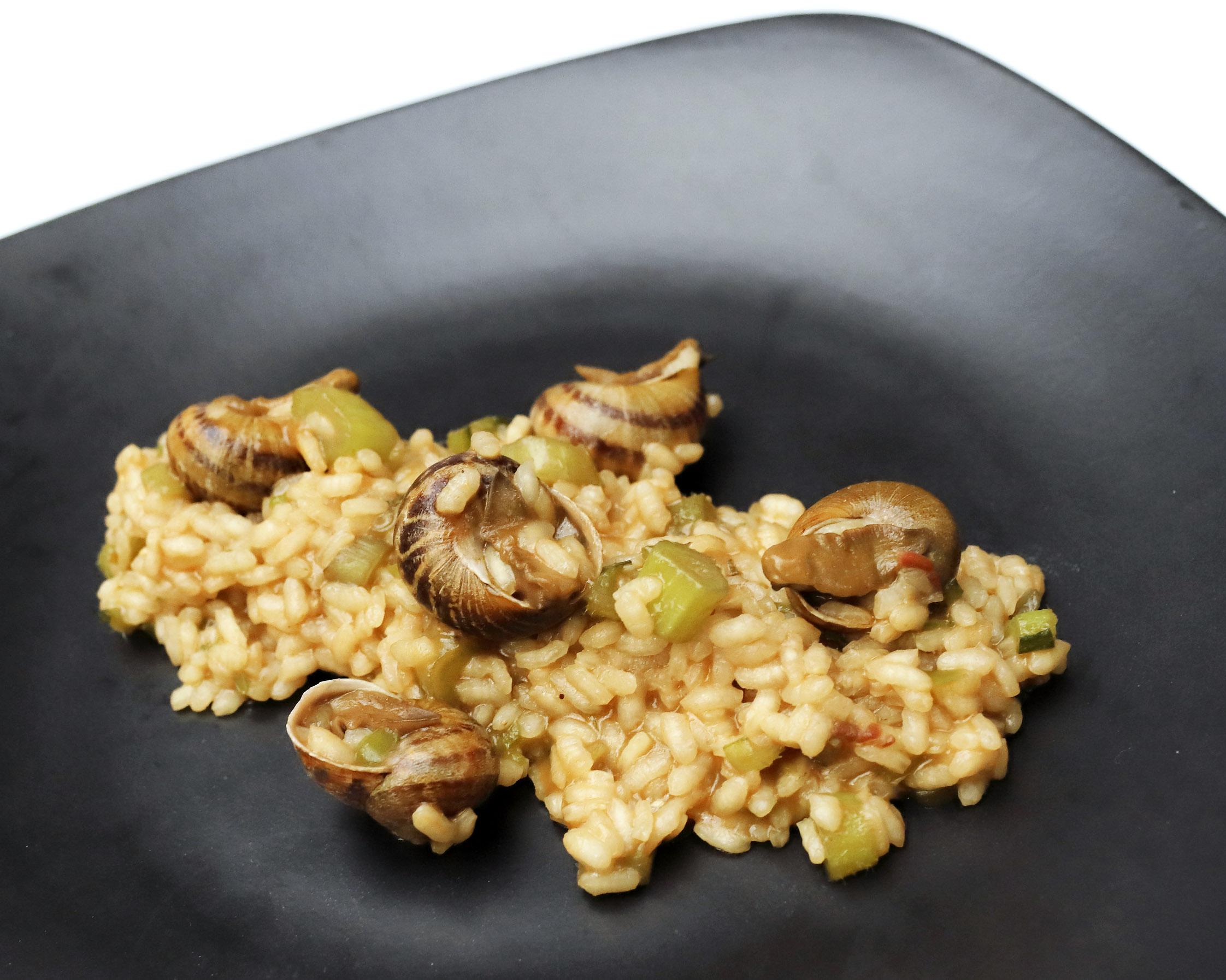 Arroz con caracoles de La Vieja caldera en las jornadas del arroz
