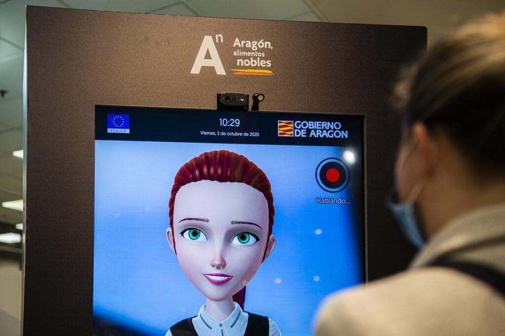 avatar interactivo de Aragón Alimentos