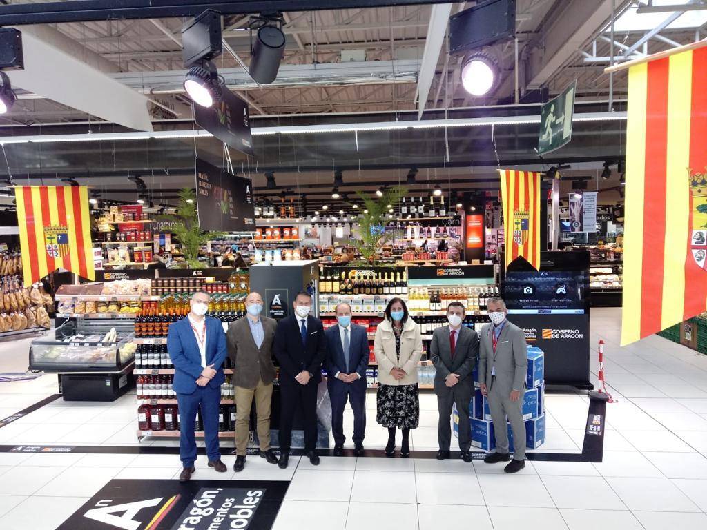 """La campaña nacional """"Aragón, alimentos nobles"""" llega al supermercado Carrefour de Majadahonda"""
