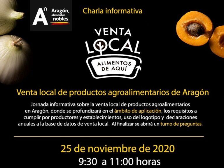 Webinar sobre la venta local de productos agroalimentarios de Aragón