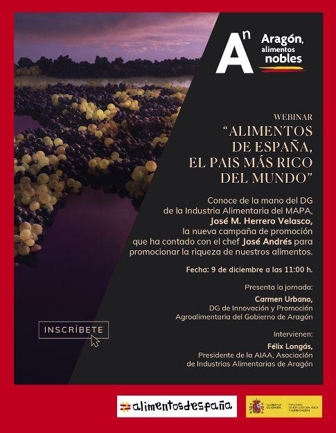 Webinar alimentos de España, el país más rico del mundo