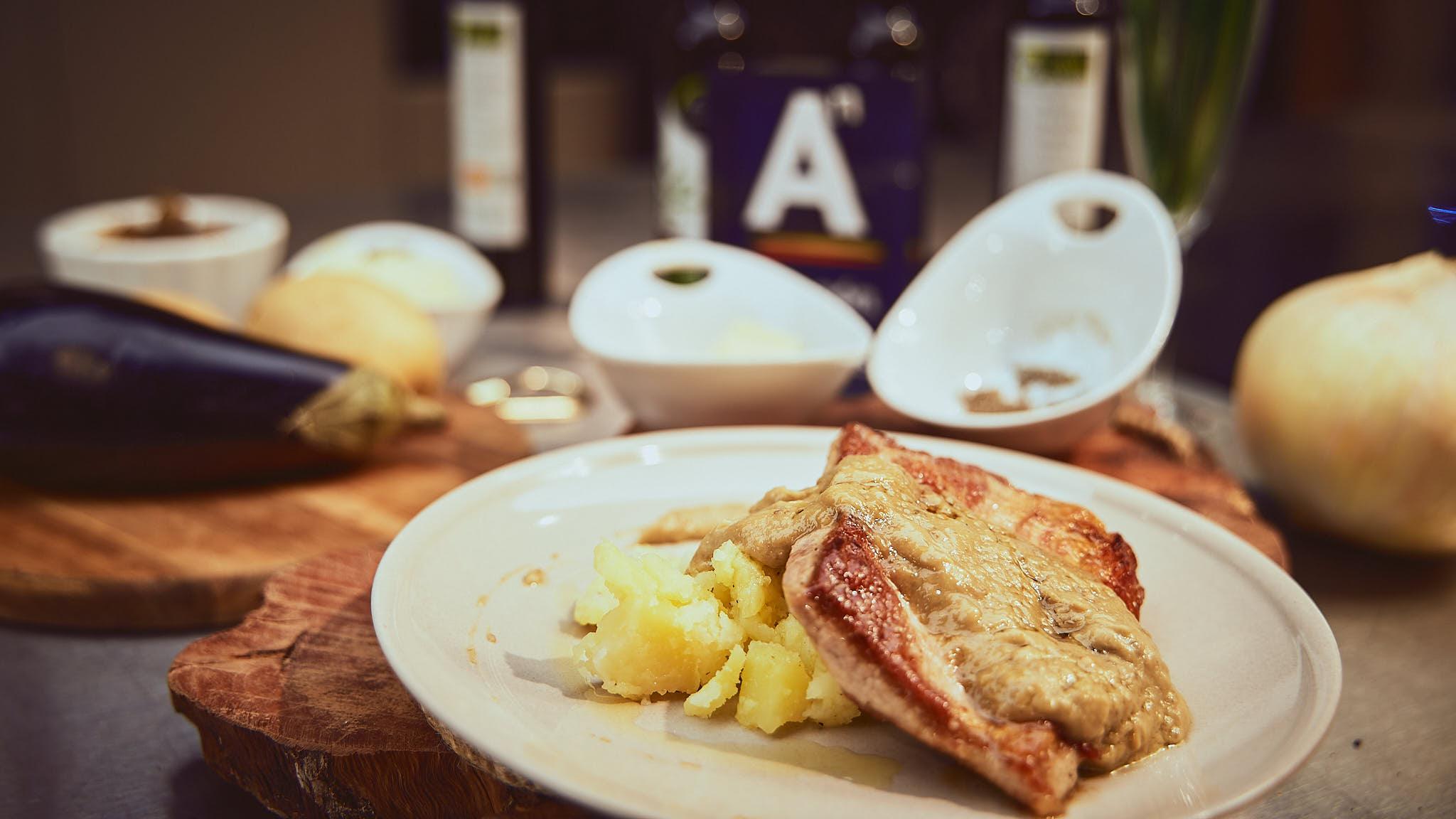 receta de secreto de cerdo de Teruel