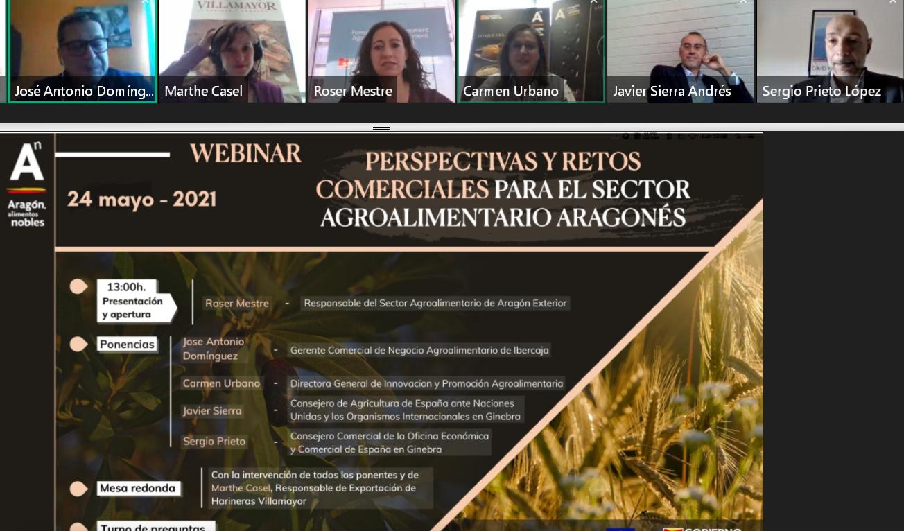 """Webinar: """"Perspectivas y Retos Comerciales para el Sector Agroalimentario Aragonés"""""""