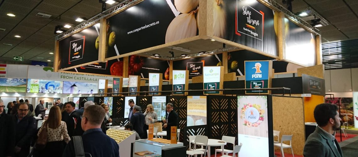 Estand de Aragón Alimentos en Fruit Logistica
