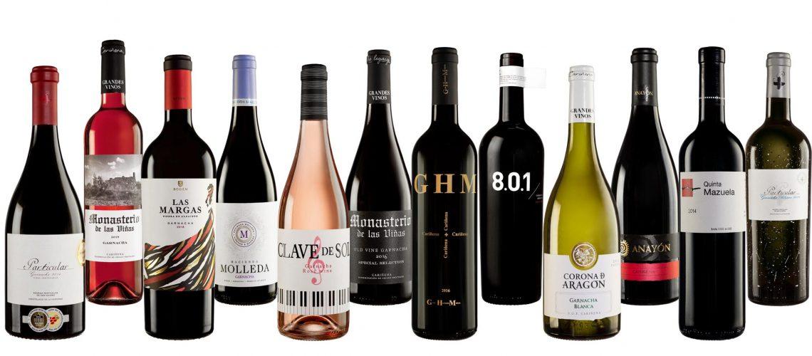 Colección vinos premium DO cariñena campaña de solidaridad hostelería de Aragón