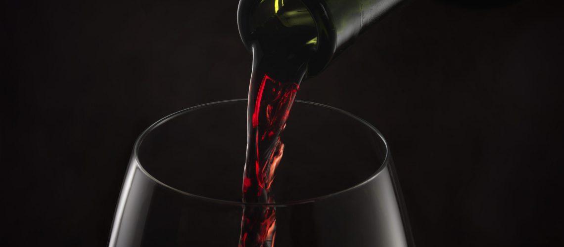 Copa de vino garnacha de Aragón