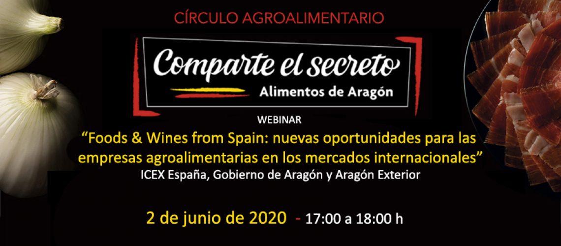 Webinar Food and Wines from Spain con Icex España y Aragón Exterior
